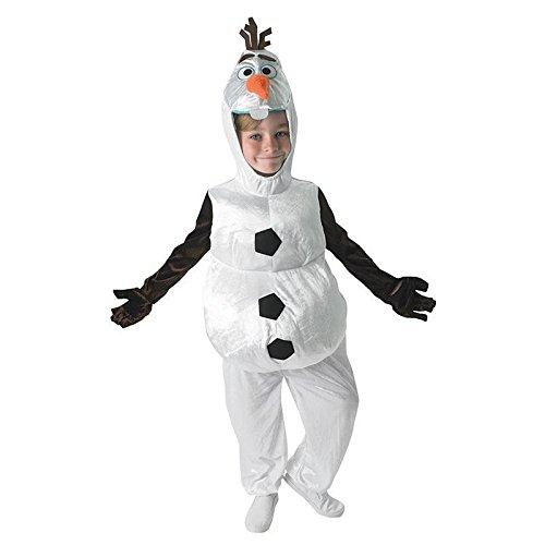 Disfraz infantil de la reina del hielo de Olaf, talla S (3-4 años), disfraz infantil de muñeco de nieve, fiesta temática