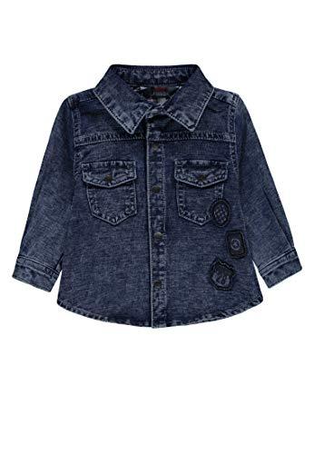 Kanz Baby-Jungen 1/1 Arm Jeans Hemd, Blau (Blue Denim|Blue 0013), 80