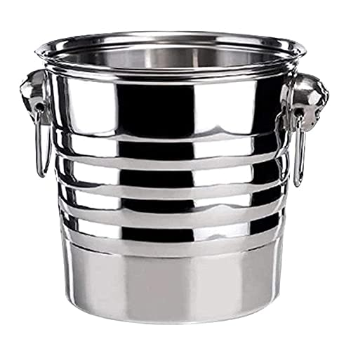 JJINPIXIU Cubo de hielo de acero inoxidable, cubo de hojalata para papas fritas, artículos para fiestas, cubo de hielo es ampliamente utilizado, portátil y conveniente, reutilizable, seguro y duradero