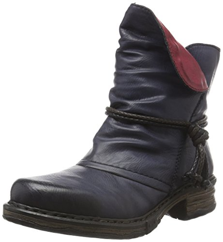 Rieker Damen Z9961 Kurzschaft Stiefel, Blau (Ozean/Wine / 14), 40 EU