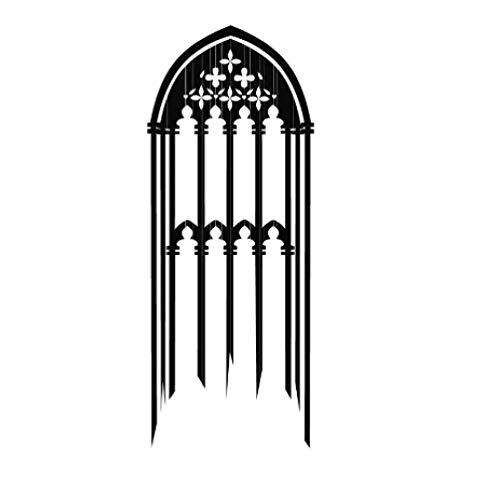 Beliebteste gotische Fenster Wandaufkleber Vinyl abnehmbare Kerzen dekorative Wandtattoo für Wohnzimmer 44X104Cm