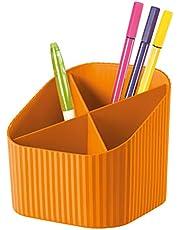 HAN Bureaukoker X-LOOP - modern, jong design voor alle bureaubenodigdheden met 4 vakken, oranje, 17230-51