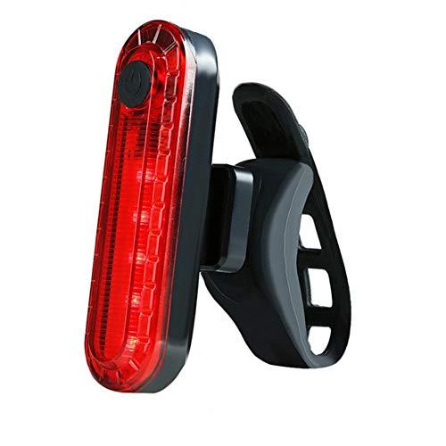 Luz trasera de bicicleta brillante luz de bicicleta recargable USB luz trasera de alta intensidad LED Accesorios para Ciclismo Linterna de seguridad rojo Ciclismo Suministros