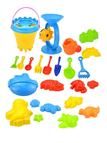 Kid Beach Toy Set Childrens Sand Play Set Sandpit Toy Including A Big Hourglass, A Sand Bucket, Shovel And Various Animal Models, 25PCS