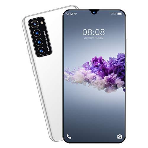 Teléfono móvil 4G, teléfonos inteligentes sin SIM desbloqueados, teléfono Android 10 con pantalla HD de 7.1 pulgadas, cámara cuádruple de 32 MP, batería de 5600 mAh, desbloqueo facial / de huellas d