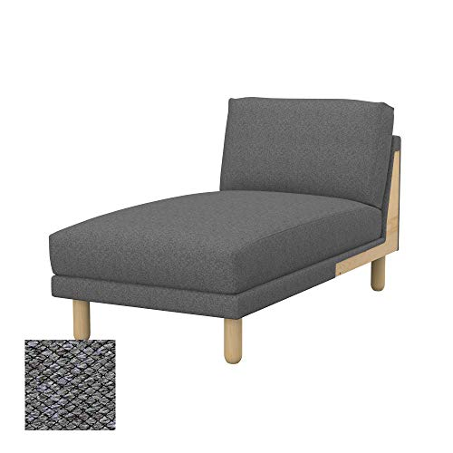 Soferia Funda de Repuesto para IKEA NORSBORG chaiselongue Unidad de complemento, Tela Nordic Grey, Gris