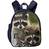アライグマカップル木材ウォーク 迷子防止リュック バックパック 子供用 子ども用バッグ ランドセル 高品質 レッスンバッグ 旅行 おでかけ 学用品 子供の贈り物