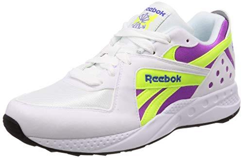 Reebok Pyro, White-Purple-Neon Yellow, 9,5