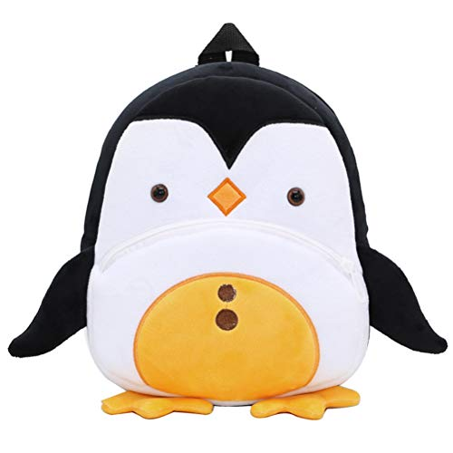 Toddler Backpack ZSWQ-Mini Children's Bag Plush Animal Cartoon, Mini Children's Bag for Baby Girl/Boy, Age 1-5 Years(Pinguin)