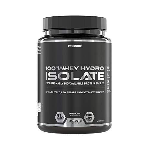 Prozis 100% Whey Hydro Isolate SS Mejor Sabor Para la Quema De Grasas, la Recuperación Muscular y la Musculación, bajo en Carbohidratos, Vainilla - 900 g