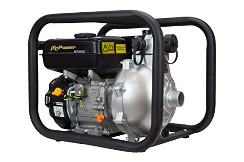 ITCPOWER IT-GPH40 Motobomba de Gasolina, 4780 W, Negro/Plata