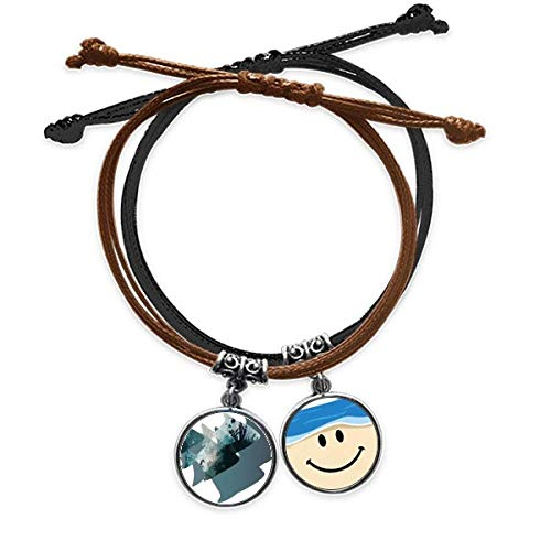 Bestchong Seahouse Coral Jellyfish Sea Nature Animal Bracelet Rope Hand Chain Leather Smiling Face Wristband