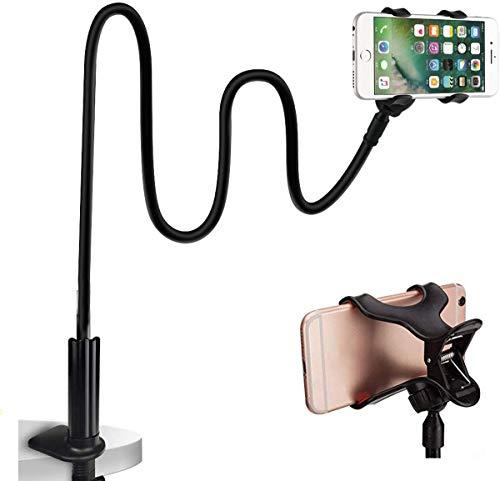 Flexible teléfono Soporte , Soporte para teléfono móvil con Cuello de Cisne Universal para Smartphone, Cuello de Cisne, Brazo Largo Flexible-70 cm-negro