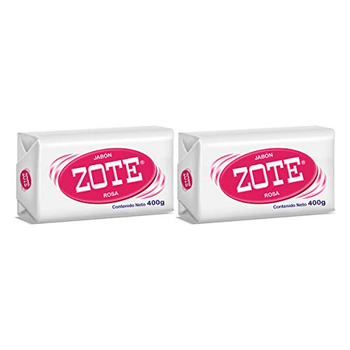 Zote Laundry Soap Bar - Stain Remover Laundry Detergent for Clothes Catfish Bait, Super Washing Travel Jabon Para Lavar Ropa Pink Underwear Clothes Washing Soap (400 grams) Pack of 2