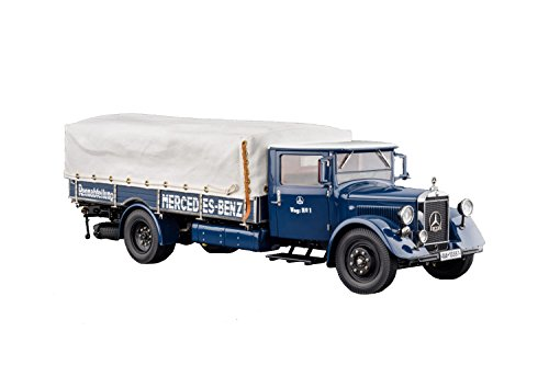 CMC-Classic Model Cars Mercedes-Benz LKW LO 2750 Racecar Truck, 1934-38 1:18 Scale Detailed Assembled Collectible Historic Antique Vehicle Replica
