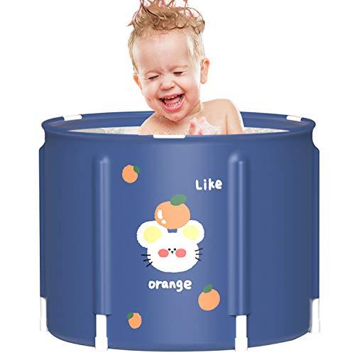Blcnk Chi Bañera Portátil para Adultos - Ideal para Baños Pequeños - Lavabo de Ducha Plegable para recién Nacidos, Espuma térmica Espesa para Mantener la Temperatura