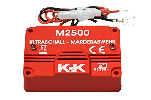 K&K M2500 - Das BEKANNTE Marderabwehrgerät: Marderabwehr Ultraschall 180°-Abwehrradius Dank seitlichen Auslässen