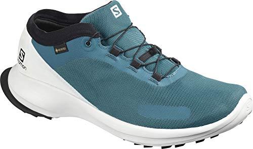 Salomon Herren Trail Running Schuhe, SENSE FEEL GTX, Farbe: blau (Lyons Blue/White/Black) Größe: EU 43 1/3