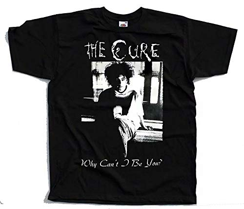 The Cure Why Can't I Be You? V2, Robert Smith, Poster T-Shirt (Black) S-5XL