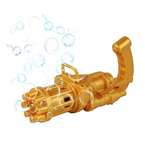 Maquina Burbujas Pompas De Jabon Gatling Pistola De Burbujas Eléctrica Juguetes Para Niños Y Niñas Al Aire Libre Para Niños Máquina De Burbujas De Verano Al Aire Libre