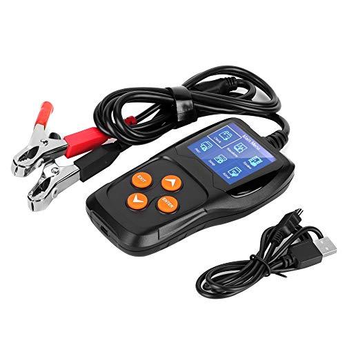 Suuonee Batterietester, KW600 Automatischer Batterieanalysator Motorrad Autobatteriesatz Tester Kit 8~16V für Fahrzeug