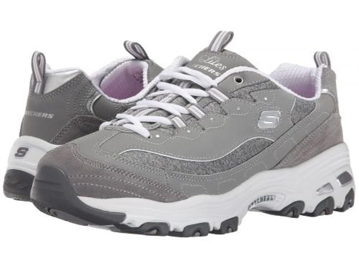 航空便漂流カウンターパートSKECHERS(スケッチャーズ) レディース 女性用 シューズ 靴 スニーカー 運動靴 D'Lites - Me Time - Gray [並行輸入品]