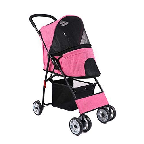 Yuany Kinderwagen Hund Welpe Katze Reise Behinderte Kinderwagen Kinderwagen Jogger Buggy Schwenkräder Für Tierarzt Hinterradbremse (Farbe: A)