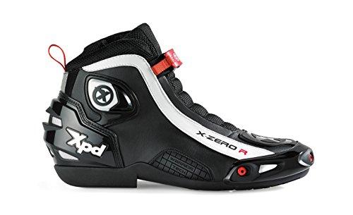 XPD X-ZERO R - Botas de moto, color negro, talla 45