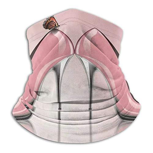 Neck Gaiter Warmer Zapatos Rosados De Tacón Alto Mariposa Protección contra El Polvo Polaina para El Cuello Bufanda De Tubo Pasamontañas Reutilizable Deportes Sol UV Al Aire Libr