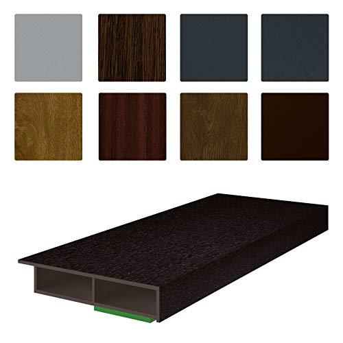 NOBILY *** Fenster/PVC Deckleiste Flachleiste Fensterleiste 30mm Breite x 7mm Höhe mit Überstand für Wandabschluss inkl. Schaumklebeband farbig - Länge 1950mm (4,05€ /m)- Farbe Schokobraun