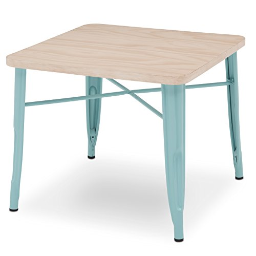 Delta Children Bistro Kids Play Table - Ideal for Arts & Crafts, Snack Time, Homeschooling, Homework & More, Eggshell Aqua with Driftwood