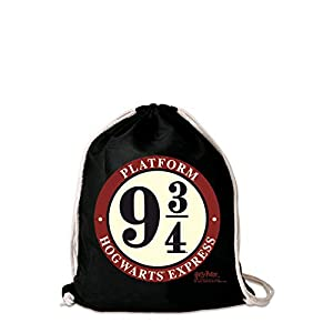 41C83JKP7KL. SS300  - Logoshirt - Harry Potter - Hogwarts Express - Andén 9 3/4 - Mochila Saco - Bolsa - negro - Diseño original con licencia