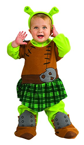 Shrek Romper And Ears Warrior Princess Fiona, Fiona Print, Newborn