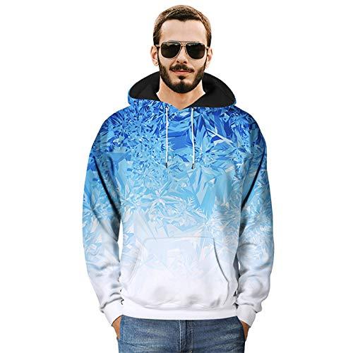 Sudadera con capucha elástica fitness Gimnasio Muscle camiseta de manga larga con capucha for niños capa de deportes Fitness masculino Entrenar Ropa de motociclista creativo del cristal de hielo 3D pa