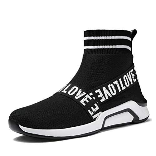 Frauen Socken Sneakers elastisches Gewebe atmungsaktiv Fly Weave Sport Laufschuhe High Top Mesh Jogging Damen Trainer