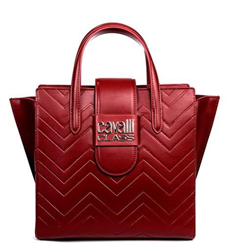 Roberto Cavalli Class Alisa Borsa a mano rosso scuro