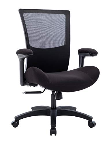 BOLISS Big and Tall Office Chair 500lbs Task Desk Chair Mesh Computer Chair with Wide Seat Flip-Up Arms Swivel High Back Ergonomic Executive Chair