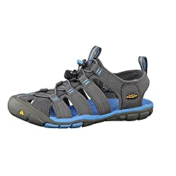travel sandals keen clearwater cnx  vegan grey blue
