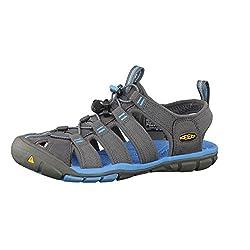 travel sandals keen clearwater cnx  vegan grey blue