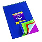 Colorations Bleeding Art Tissue, 50 Sheets, 12 inches x 18 inches, 20 Assorted Colors, Watercolor, Collage, Arts & Crafts, Mess-Free Paint Alternative, Model:BBREGTIS