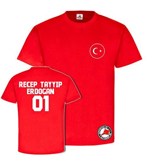 Copytec Recep Tayyip Erdogan Trikot Türkei Turkie Osmanen Fun Spass Stolz Türkiye Ankara Wm Anatolien #23863, Farbe:Rot, Größe:Herren L