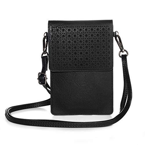 Jlyifan Handy Tasche Umhängetasche für Motorola One Zoom / Action / Vision / Moto G8 Plus / G8 Power / LG K61 K51 K41S / LG V50 V40 ThinQ G8 ThinQ (schwarz)