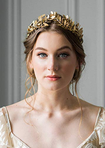 Deniferymakeup Vintage-Tiara im Barockstil für Hochzeit, Olivenzweig, Krone- und Tiara-Brautschmuck, Prinzessin, Königin, Krone für Braut und Brautjungfer