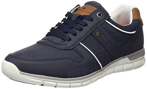 TOM TAILOR Herren 8081903 Sneaker, Blau (Navy 00003), 43 EU