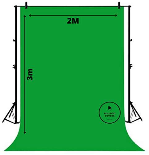 Green Screen Chroma Key Stoff, Zoom Tik Tok OBS Hintergrund, 2 m x 3 m