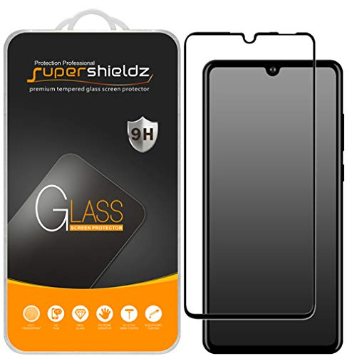 (2 Pack) Supershieldz for Huawei (P30 Lite) Tempered Glass Screen Protector, (Full Screen Coverage) Anti Scratch, Bubble Free (Black)