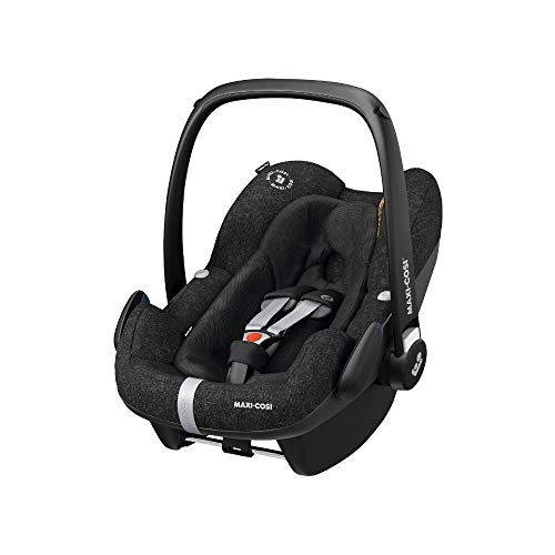 Maxi-Cosi Pebble Plus Autositz für Babys Gruppe 0+, ISOFIX-Kindersitz, i-Size, 0-12 m, 0-13 kg, 45-75 cm, Nomad Black (schwarz)