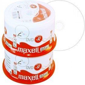 DVD-R 4,7 Go Maxell 16x vitesse imprimable Encre en cakebox 100 pièces