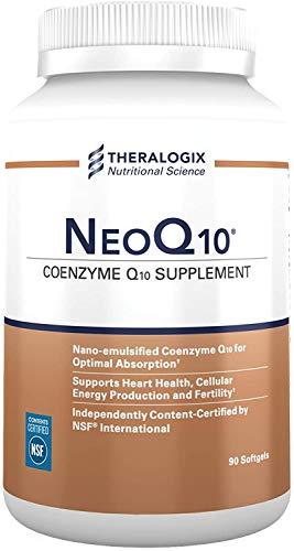NeoQ10   Enhanced Absorption Coenzyme Q10 (CoQ10) Supplement   90 softgels