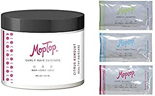 MopTop Curly Hair Custard Gel for Fine, Thick, Wavy, Curly & Kinky-Coily Natural hair, Anti Frizz Curl Moisturizer, Define...